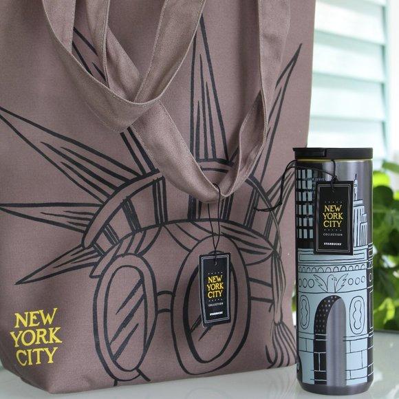 Starbucks NYC Collection.  Tote bag & 16oz Tumbler